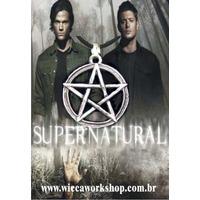 Colar Supernatural Sam E Dean - Pentagrama Com Colar