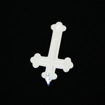 Pingente De Prata 925 Cruz Com Gravação Força