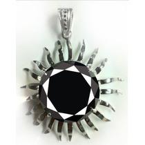 Jóia Pingente Diamante Negro 110.5ct Em Prata 925