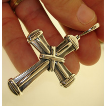 Crucifixo Cruz Verbo Divino Prata 950k Maciça