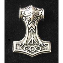 Pingente Martelo De Thor Mjölnir: Asgard 5cm Com Colar