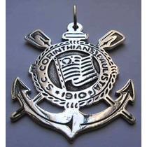 Pingente Time Corinthians Grande (prata De Lei 950)