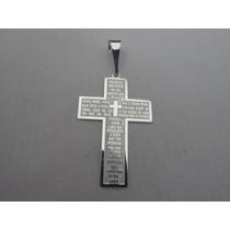 Pingente Crucifixo Oração Pai Nosso Em Prata 925