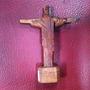 Imagem Miniatura Cristo Redentor Em Madeira