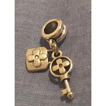 Berloque Charm Chave E Cadeado Estilo Pandora Antix