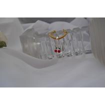 Berloque De Pandora- Cerejas Em Banho Prata-esmaltada