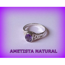 Anel Celta Enchanted Ametista Natural- Prata 3,1 Gr - Aro 15