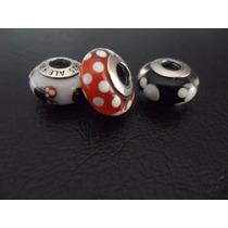 3 Berloques Murano Mickey E Minnie Disney Pandora Pura 925