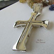 Crucifixo Centurião Roma Antiga Prata Maciça Ojoalheiro