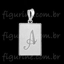 Pingente Letra Inicial Nome Placa Em Prata 925 Grande!