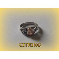 Anel Celta Love Triquetra Citrino - Prata 3,0 Gr - Aro 17