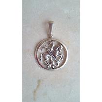 Pingente/ Medalha São Jorge 2,8cm Prata 925 Frete Gratis