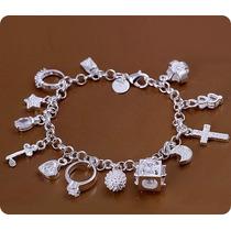 Pulseira Charme Charm Pandora Pingentes Bracelete Prata 925