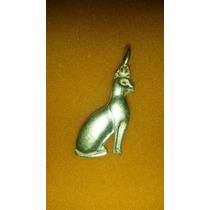 Pingente Gato Egipcio Em Prata