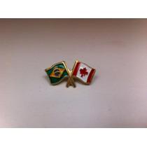 Pins Da Bandeira Do Brasil X Canadá