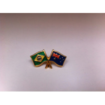 Pins Da Bandeira Do Brasil X Austrália