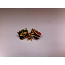 Pins Da Bandeira Do Brasil X África Do Sul