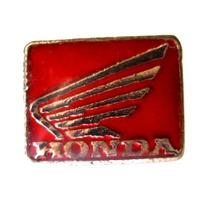 Pin- Boton - Broche Honda Prateado Moto Motociclismo