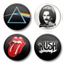 Kit 12 Bottons Buttons Botom Pink Floyd Queen Rolling Stones