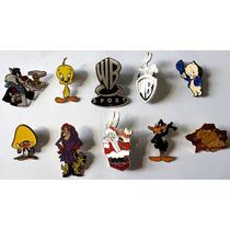 Coleção 10 Pins Broche Boton Desenhos Warner Bros Novos