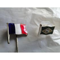 Pins Bandeiras - Brasil E França - Par