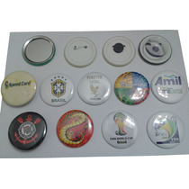 100 Botons Botton Buttons Butons Broches Personalizados 4,5