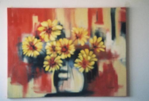 Pinturas A Ólio E Acrilica Sobre Téla Pintado A Mão