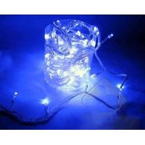 Pisca Natal Azul 100 L Led Fio Transparentes 4 F 110volts