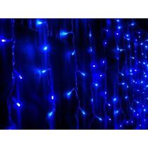 Cascata Pisca Pisca Led Azul 200 Lampadas Natal Decoracao