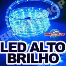 Mangueira Luminosa Luz Led Alto Brilho P/ Natal 10mt + Pisca