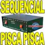 Controle Sequencial Pisca P/ Mangueira Até 100mt Led E Comum