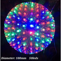 Bola De Natal Grande Led Cristal 150l Colorida 110v
