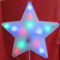 Pisca Pisca Estrela De Led Colorido Árvore De Natal Cascata