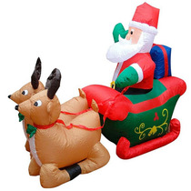 Gigante Rena Inflável Papai Noel Natal Exterior Prédio 110 V
