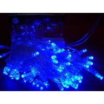 Pisca Pisca Led 100 Lâmpadas Azul 127v Sequencial 8f 15102