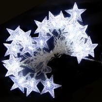 Pisca Pisca Branco Estrelas Natal 20 Lampadas Led Decoracao