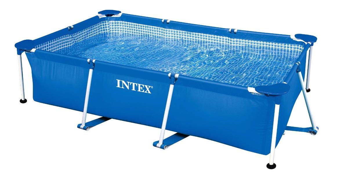 Piscina de arma o retangular 2282 litros intex 260cm for Calcular litros piscina