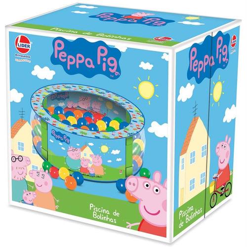 Piscina de bolinha peppa pig c 100 bolinhas coloridas - Peppa pig piscina ...