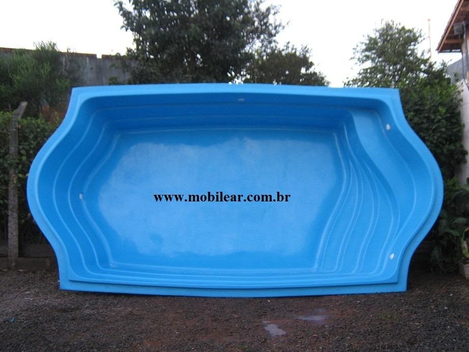 Piscina de fibra litros tamanho 5 00 x 2 60 x 1 20 for Piscina 1 20