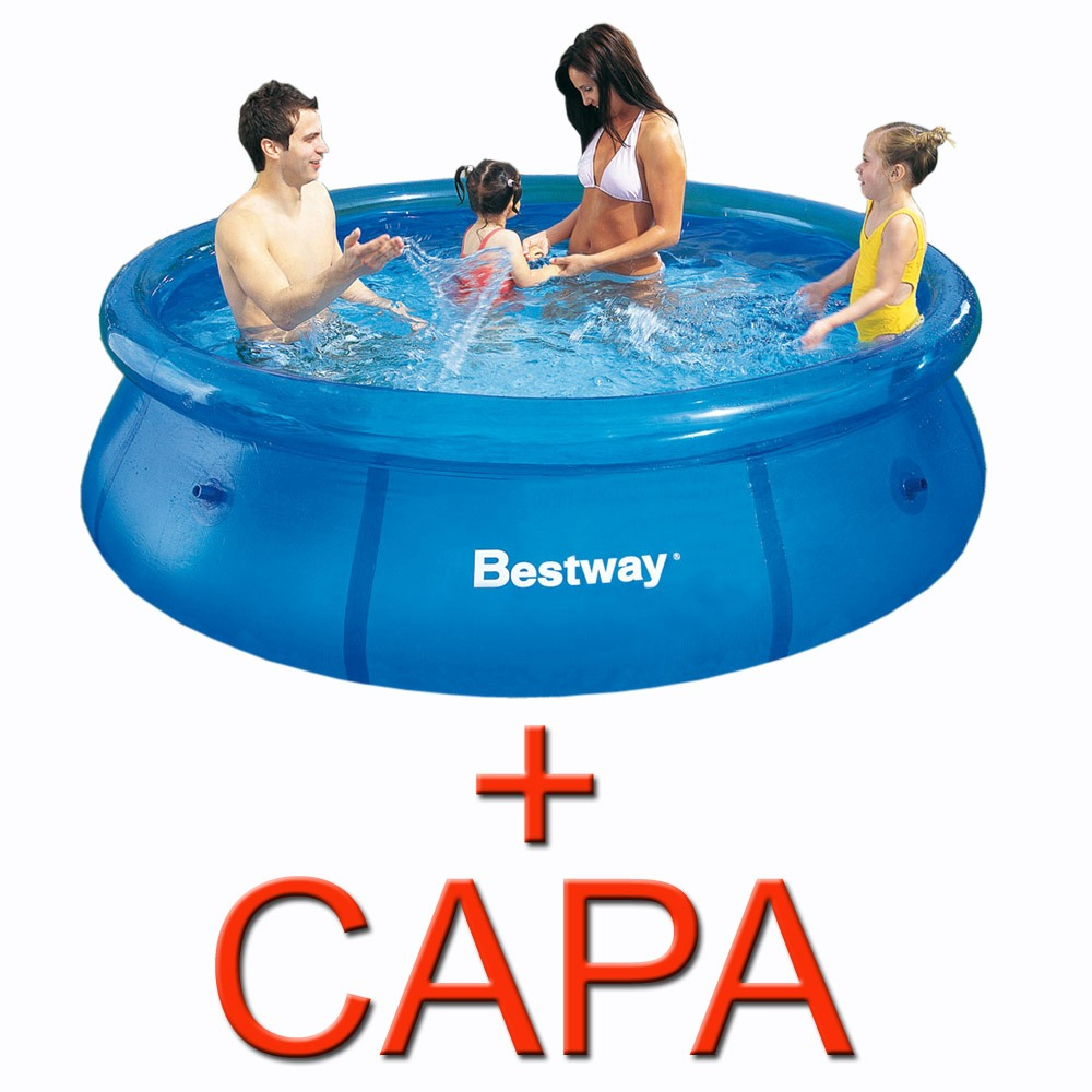 piscina infl vel litros capa bestway intex