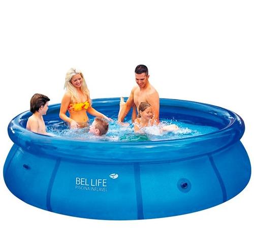 piscina infl vel 4600 litros redonda belfix r 265 99 no