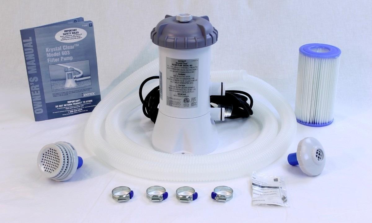 Piscina intex 6503 litros filtro capa forro kit de limpeza for Filtro para piscina intex