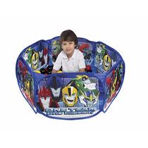 Piscina De Bolinha Mágica C/100 Bolas Transformers 3427