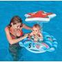 Baby Bote Boia Inflável Com Cobertura Piscina Estrela Intex
