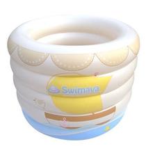 Bebê Banho-piscina, Cor Branca, Fralda Amarela E Bolsa