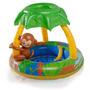 Banheira Inflável Infantil Macaco 65l Com Sombreira Mor