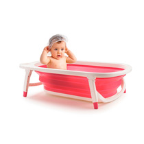 Banheira Portátil Dobrável Flexi Bath Rosa Bb160 Multikids