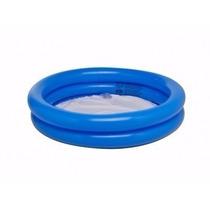 Banheira Circular Inflável Piscina Infantil 130 Litros Azul