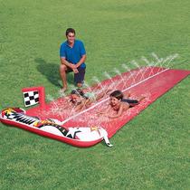 Tapete Escorregador Inflável 2 Pistas Brincadeira Com Água