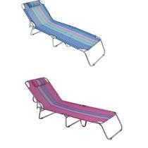 Cadeira Espreguiçadeira Em Aluminio Para Piscina Praia Mor